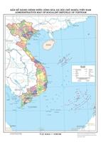 Mẫu Bản đồ hành chính nước Cộng hòa xã hội chủ nghĩa Việt Nam đăng tải trên internet